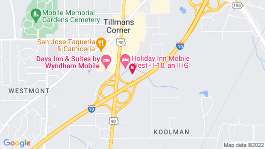 Holiday Inn Express & Suites Mobile West I-10, an IHG Hotel Map