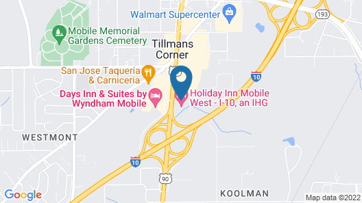 Holiday Inn Mobile West I-10, an IHG Hotel Map
