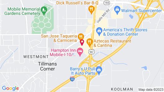 Motel 6 Mobile, AL Map