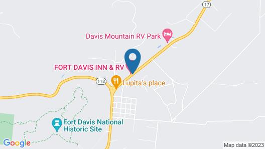 Fort Davis Inn & R.V. Park Map