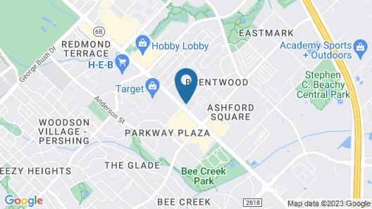 Motel 6 College Station, TX - Bryan Map