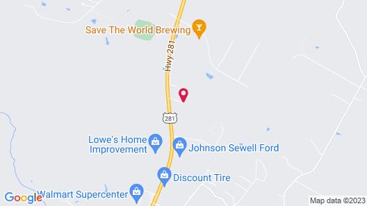 Motel 6 Marble Falls, TX Map