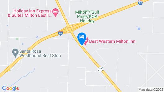 Best Western Milton Inn Map