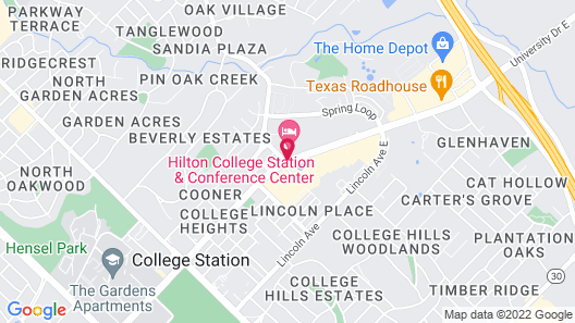 Hilton College Station & Conference Center Map