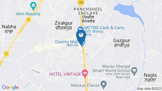 Park Plaza Chandigarh Zirakpur Map