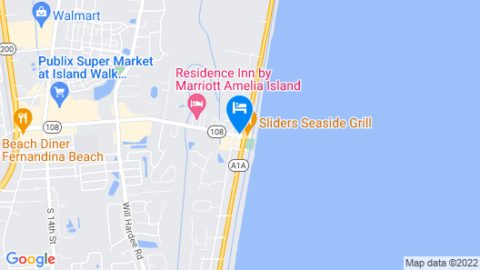 Amelia Hotel at the Beach Map