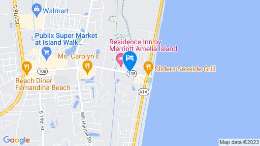 Hampton Inn Amelia Island Map