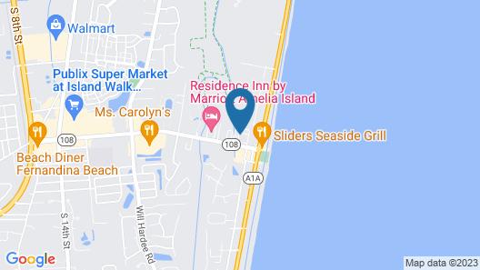 Ocean Coast Hotel at the Beach Amelia Island Map