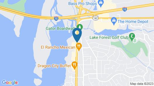 Eastern Shore Motel Map