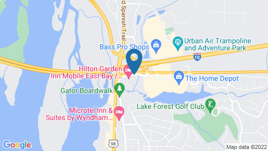 Homewood Suites by Hilton Mobile-East Bay-Daphne Map