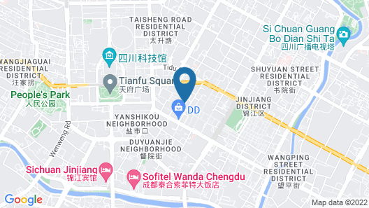 Grand Hyatt Chengdu Map