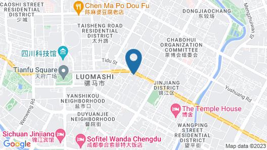 Chengdu Three Fish International Youth Hostel Map