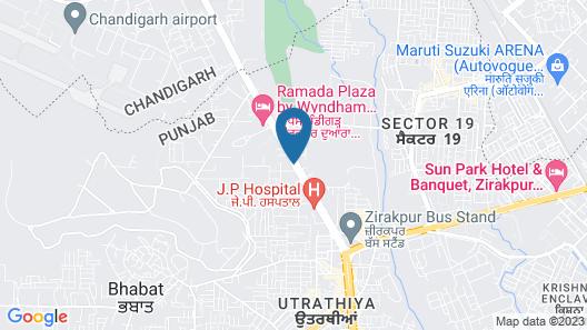 Royal Park Resorts Zirakpur Map