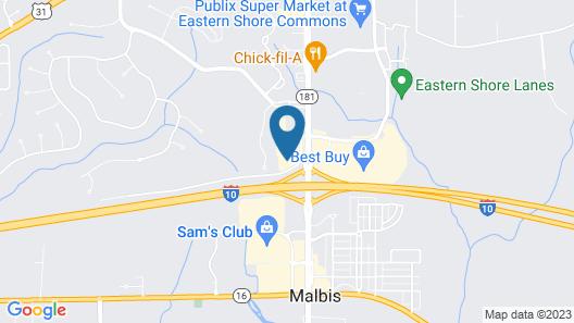Comfort Inn & Suites Mobile near Eastern Shore Centre Map