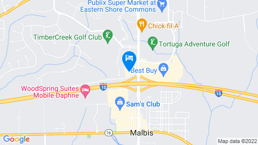 Comfort Inn & Suites Mobile near Eastern Shore Centre Map