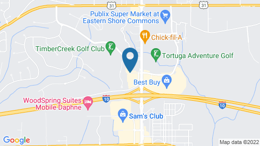 Best Western Plus Daphne Inn & Suites Map
