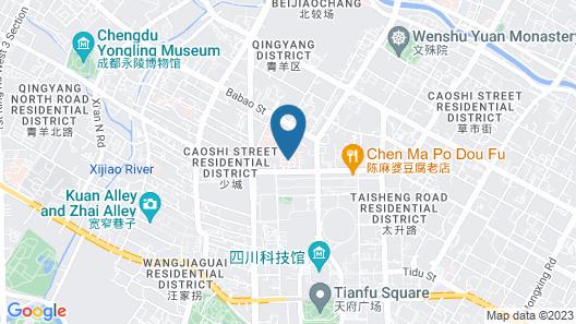 Sheraton Chengdu Lido Hotel Map