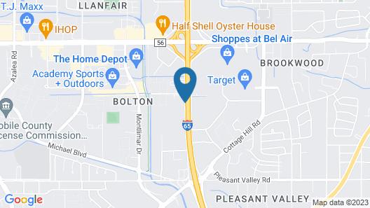 Hampton Inn & Suites Mobile I-65@ Airport Blvd Map