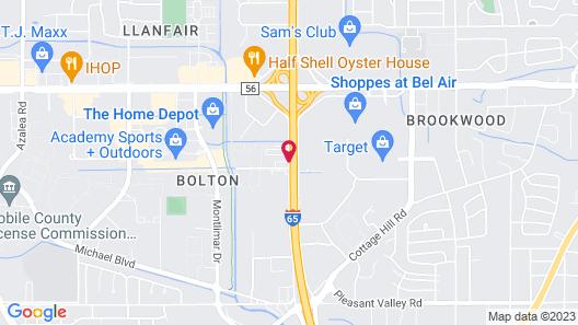 Residence Inn By Marriott Mobile Map