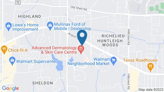 Hampton Inn & Suites Mobile Providence Park/Airport Map
