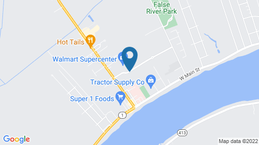 Best Western False River Hotel Map