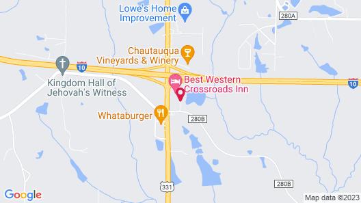 Best Western Crossroads Inn Map