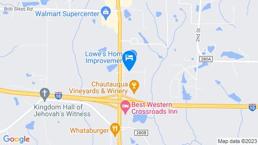 Econo Lodge Defuniak Springs Map