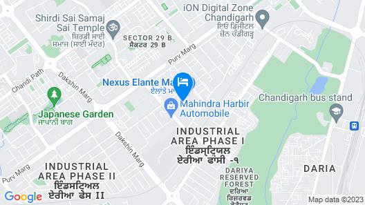 Hyatt Regency Chandigarh Map