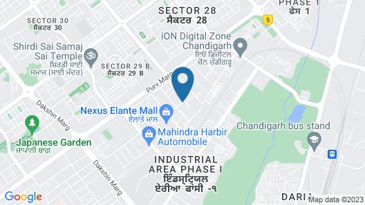 Hometel Chandigarh Map