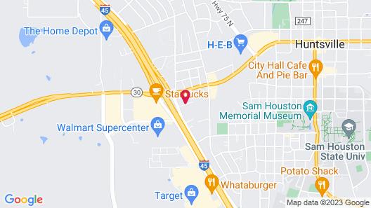 Motel 6 Huntsville, TX Map