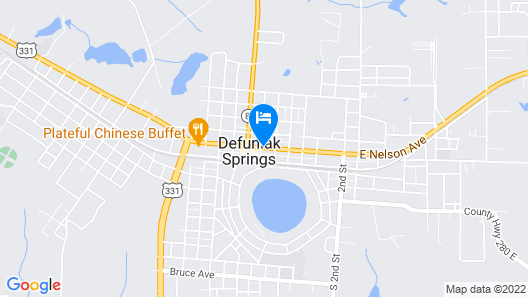 Hotel DeFuniak Map