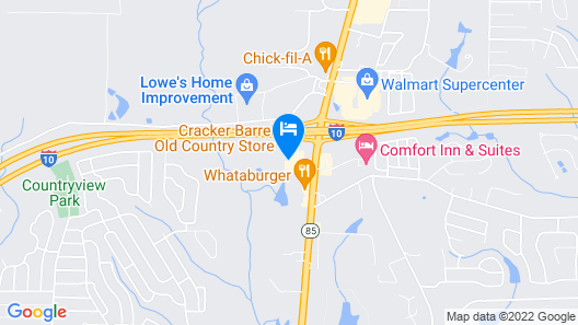 Quality Inn Crestview near Eglin AFB Map