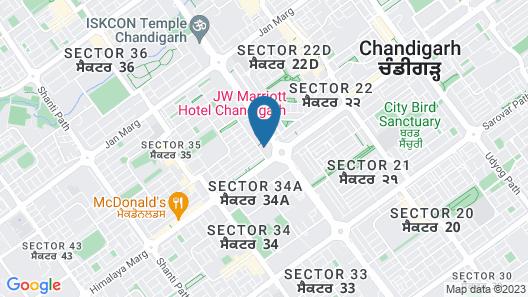 JW Marriott Hotel Chandigarh Map