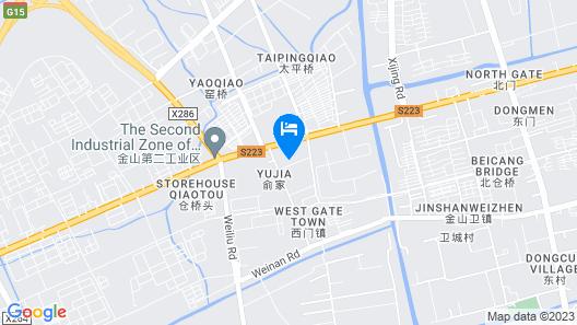 Vatica Shanghai Jinshan District Jinshan Guojishangmaocheng Weihong Road Hotel Map