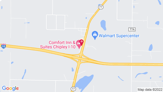 Quality Inn Chipley I-10 at Exit 120 Map