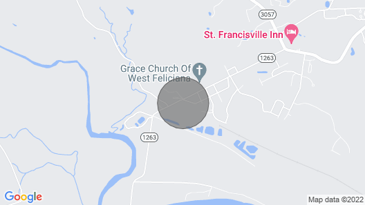 The Loft on a 4-acre Hilltop in St Francisville's Historic District Map