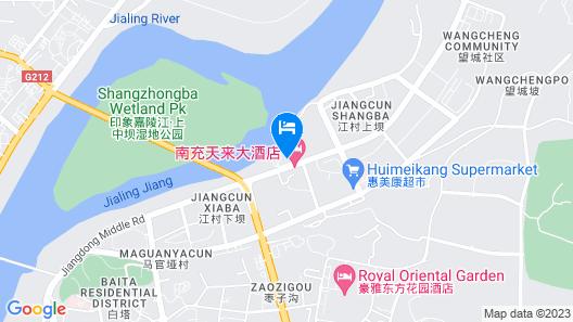 Tianlai Hotel - Nanchong Map