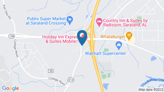 Holiday Inn Express Hotel & Suites Mobile/Saraland, an IHG Hotel Map