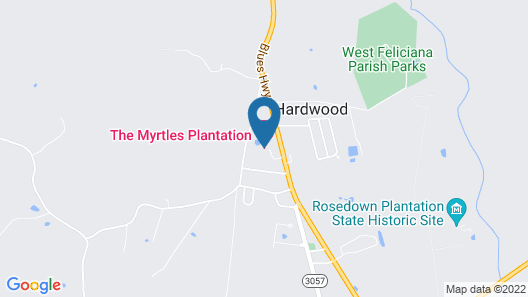 The Myrtles Plantation Map