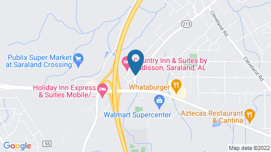 Red Lion Inn & Suites Saraland Map