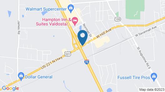 Fairfield Inn & Suites Valdosta Map