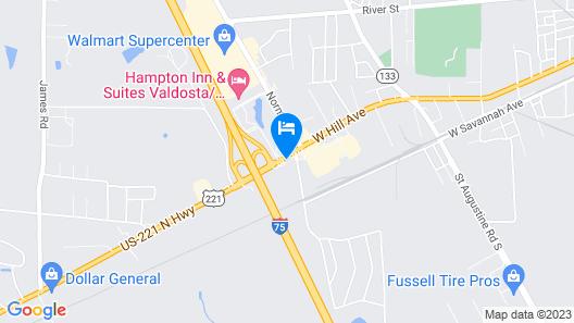 Motel 6 Valdosta, GA - University Map