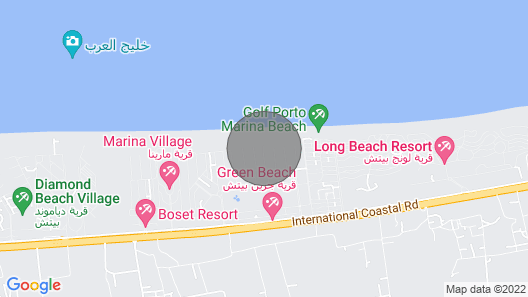 Elegant Modern Beachfront Chalet in Green Beach Map