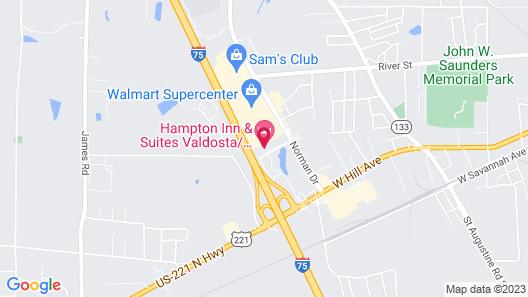 Hampton Inn & Suites Valdosta/Conference Center Map