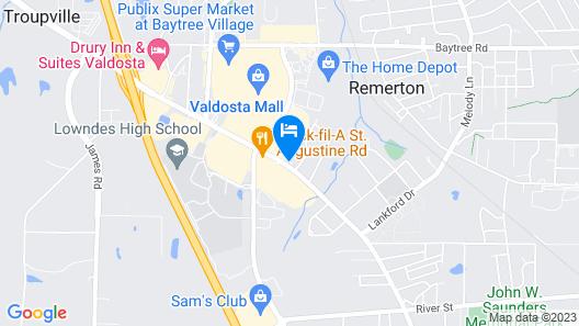 Candlewood Suites Valdosta Mall, an IHG Hotel Map