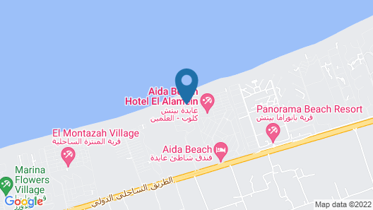 Aida Beach Hotel-El Alamein Map