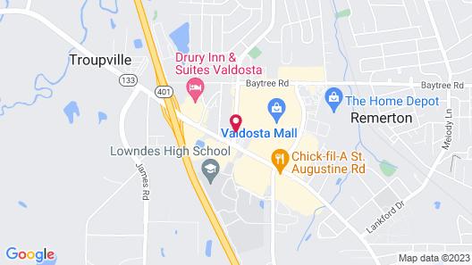 Quality Inn At the Mall - Valdosta Map