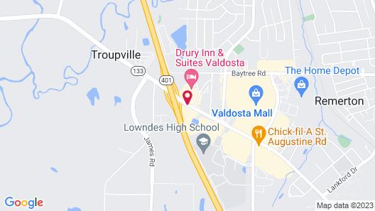 Drury Inn & Suites Valdosta, GA Map