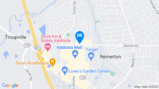 Courtyard by Marriott Valdosta Map