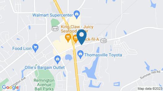 Hampton Inn Thomasville Map